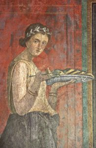 Fig. 3 Pompéi villa des Mystères mur de gauche II det cl. F. P. 5131
